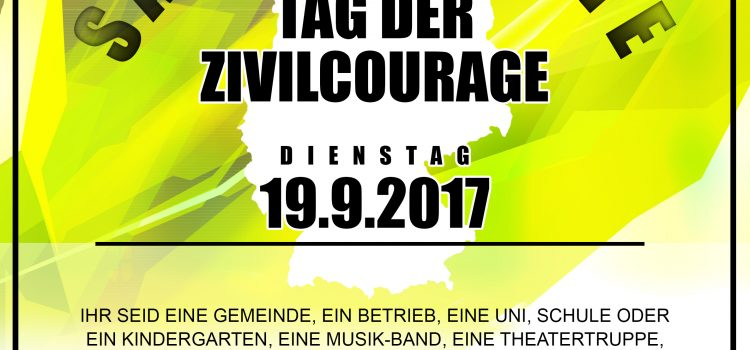 Save the Date – Tag der Zivilcourage 19.09.2017